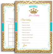 Turquoise Pink Gold Princess Shower